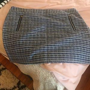 Mini Skirt.  Cotton Blend Stripe Pattern